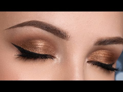 Easy Bronze Smokey Eyes – No False Lashes – Makeup Tutorial