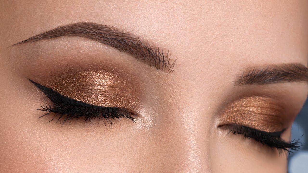 Easy Bronze Smokey Eyes No False Lashes Makeup