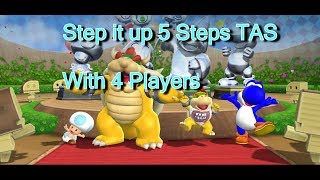 Mario Party 9 - Step up it [TAS] With 4Players 5 Steps