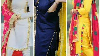Plain Salwar Suit Design Collection //Punjabi Dresses Design For Girls