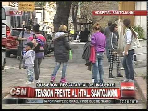 C5N - POLICIALES: TENSION EN EL HOSPITAL SANTOJANNI (PARTE 1)