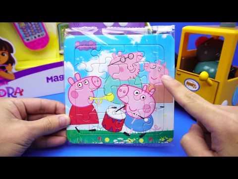 小豬佩奇 簡易的拼圖 玩具 粉紅豬小妹
