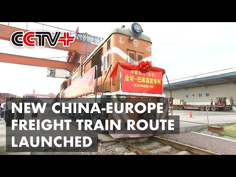 New Freight Train Route to Azerbaijan Opens in East China