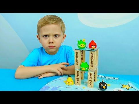 Игра Angry Birds GO! Lets Play Часть 1 Злые птички против хрюшек, гоняем на машинках
