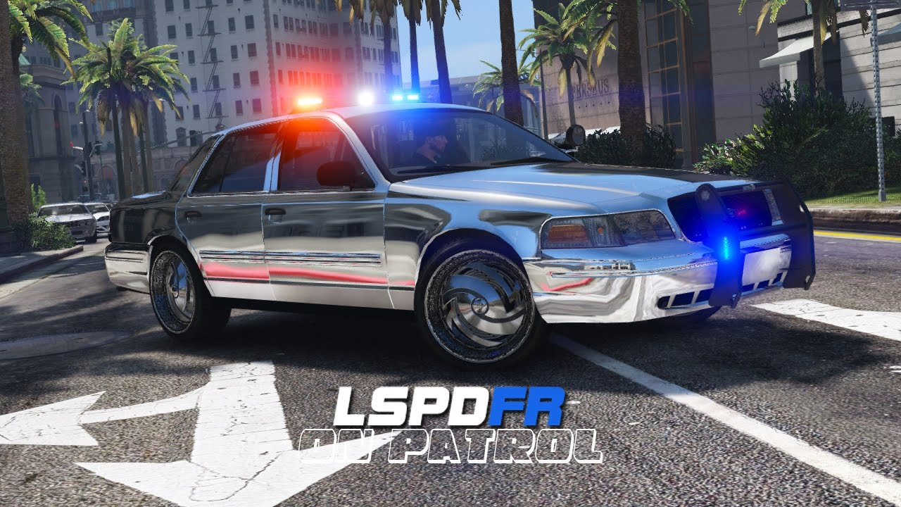 Lspdfr Day 391 Chrome Police Car Youtube
