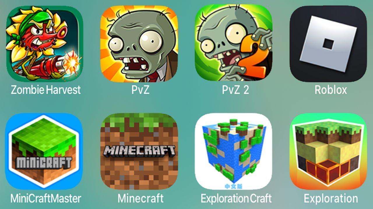 Zombie Harvest,PvZ,PvZ 2,Roblox,MineCraftMaster,Minecraft,ExplorationCraft,Exploration