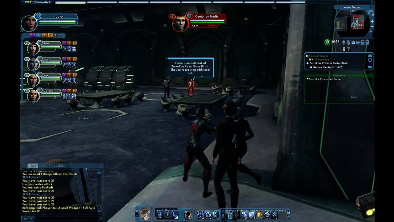 STO romulan space station not very nice to humans