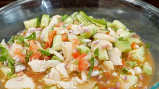 How to make Mexican Style fish ceviche