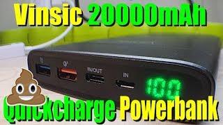 power Bank Vinsic P3 Terminator 20000 mAh - обзор Aliexpress.com