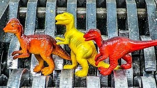Dinosaur Family Shredded. Colorful Dinosaurs Destroyed! What's Inside Squishy Dinosaur Water Toys?