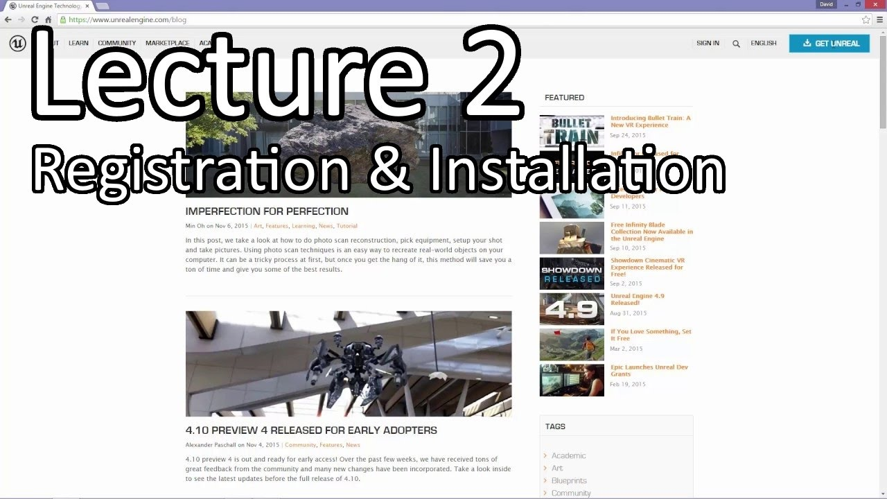Learn Unreal Engine - Lecture 2 - Registration & Installation // Unreal Engine 4 Tutorials