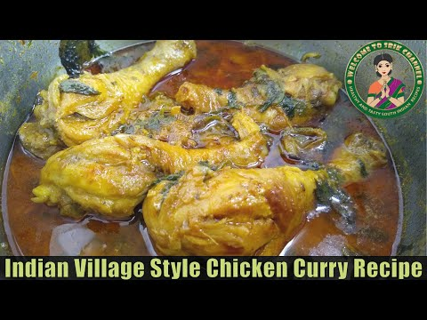 Indian Village Style Chicken Curry Recipe|Easy Chicken Curry Recipe for Bachelors & Beginners