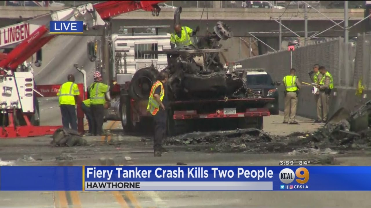 2 Dead In Fiery Crash On 105 Freeway In Hawthorne