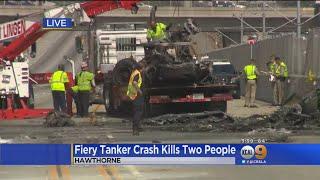 2 Dead In Fiery Crash On 105 Freeway In Hawthorne