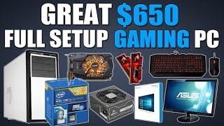 Great $650 Full Setup 1080p Gaming PC (Includes KBM, OS and Monitor!)
