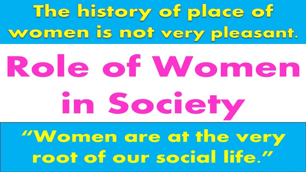 essay on place of women in our society