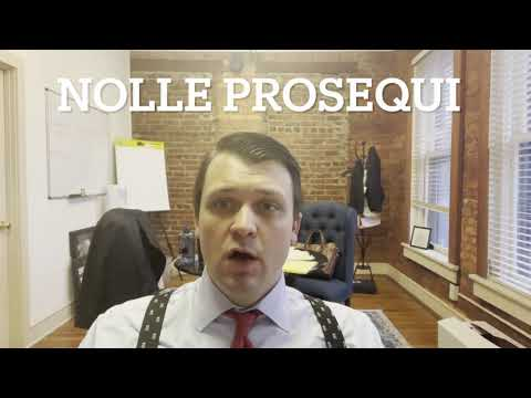 What is a Nolle Prosequi?