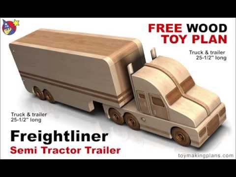 Wood Toy Plans - Freightliner Semi Truck