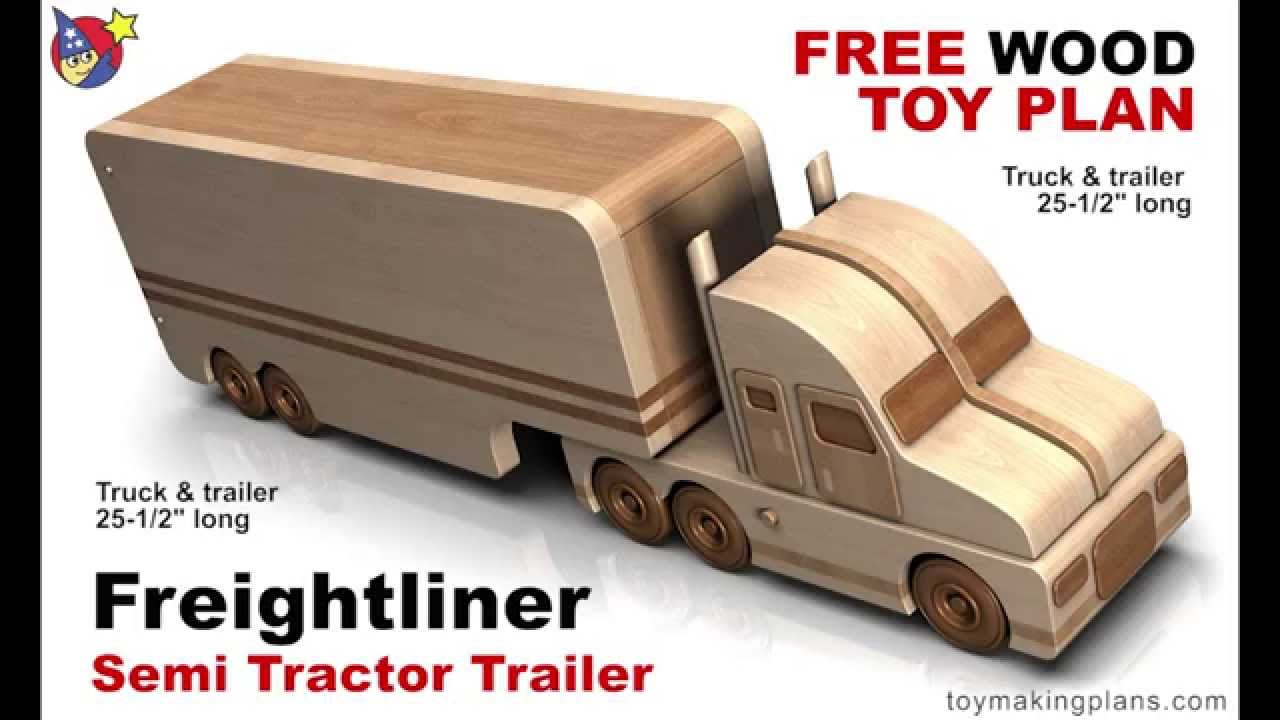 Wood Toy Plans Freightliner Semi Truck