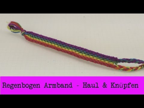 Regenbogen-Armband knüpfen & Knüpfgarn Haul | Freundschaftsarmband selber machen | DIY