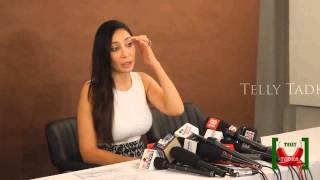 Sofia Hayat - Press Conference - Files FIR against Armaan Kohli