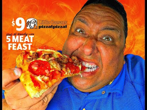 Little Caesars® $9 Hot-N-Ready 5 MEAT FEAST PIZZA Review!