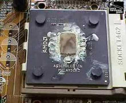 Как сгорают процессоры - Видео