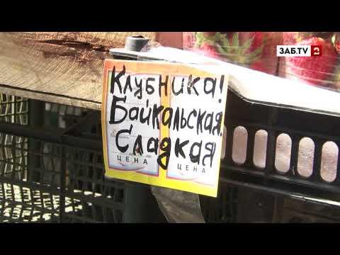 Байкальскую клубнику в Чите продают без необходимых документов