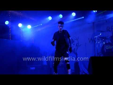 Robotic dance on hindi songs by Sikkimese boy