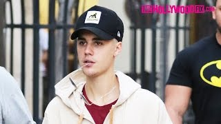 Justin Bieber Hits The Recording Studio & Cheesecake Factory For Dinner At The Grove 1.20.16