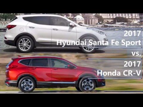 2017 Hyundai Santa Fe Sport vs 2017 Honda CR-V (technical comparison)