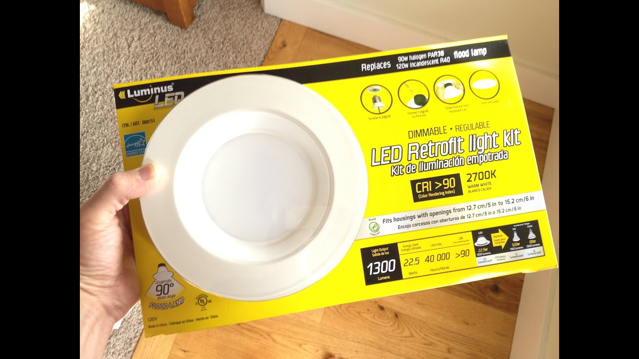 Bathroom Light Fixtures Costco how to install the costco led retrofit light kit - youtube