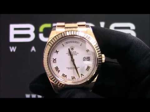 Rolex Day-Date II 218238 White Roman 41mm Pre-Owned For Sale
