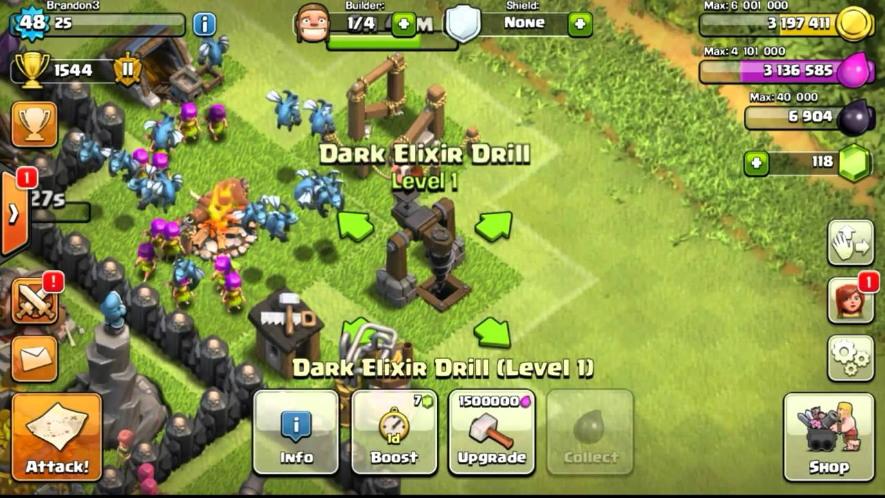 Dark elixir drill boost - Clash Of Clans Let S Clash Episode 41 Day 41 Townhall 9 Upgrade Walls With Elixir