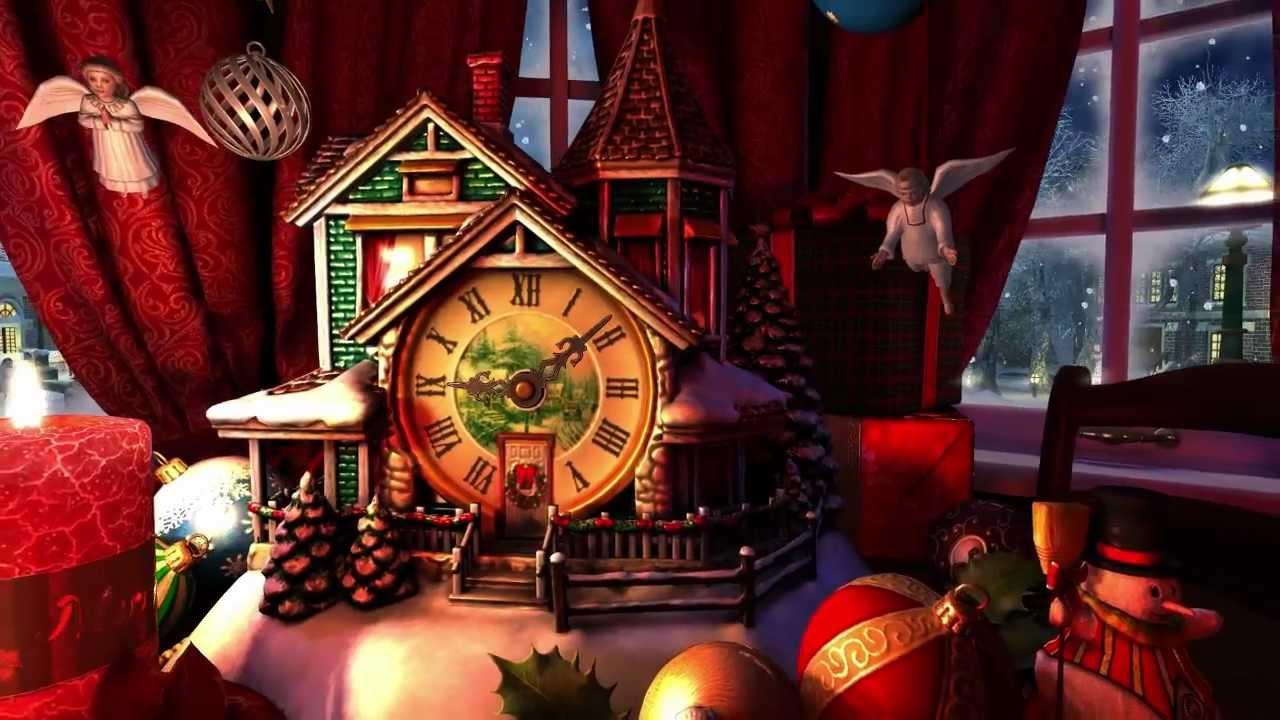 3d Xmas Wallpaper Free Christmas Evening 3d Screensaver Youtube