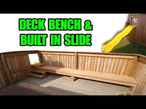 how-to-make-a-wood-deck-bench-/-adding-a-kids-slide-to-a-deck