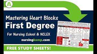 What is First Degree Heart Block Type 1 ECG Telemetry Nursing KAMP NCLEX 2019 Prep