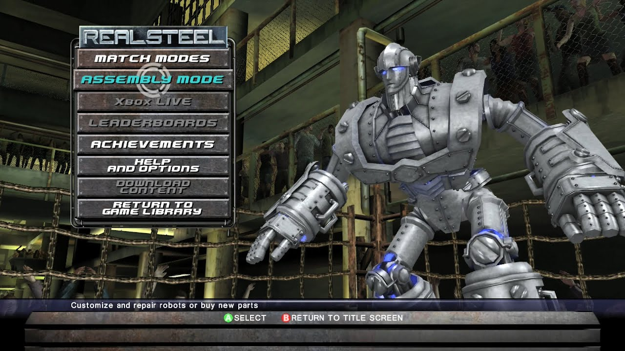 REAL STEEL THE VIDEO GAME - СОЗДАЕМ НОВОГО РОБОТА (ПРОСТО ГИГАНТ)