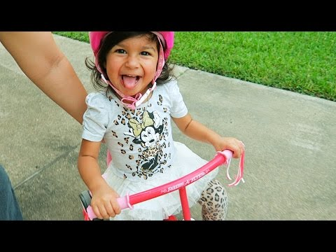 Teaching Toddler To Ride Tricycle