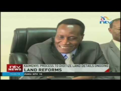CS Kaimenyi says Ministry of Lands will go online