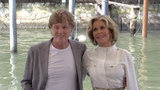 Robert Redford and Jane Fonda arriving at the Photocall of Our Souls at Night in Venice