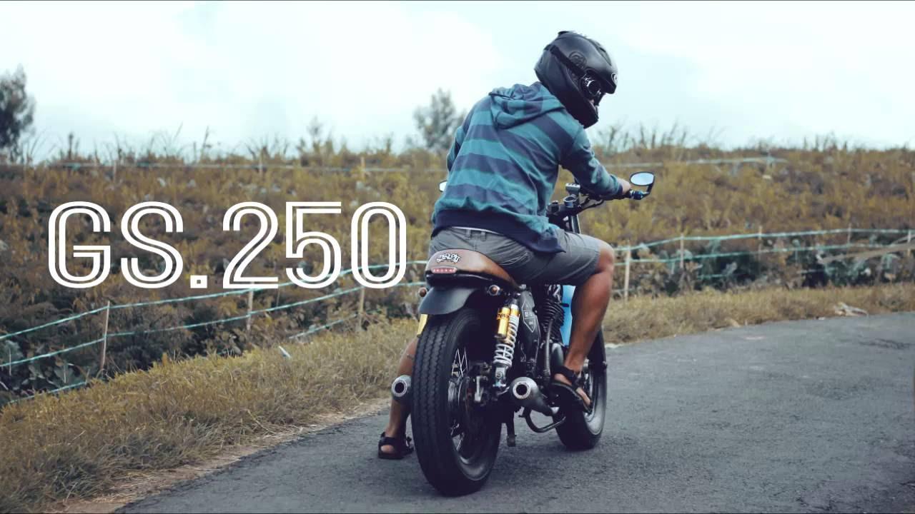 teaser hd suzuki gs.250 / suzuki thunder 250 modifikasi caferacer