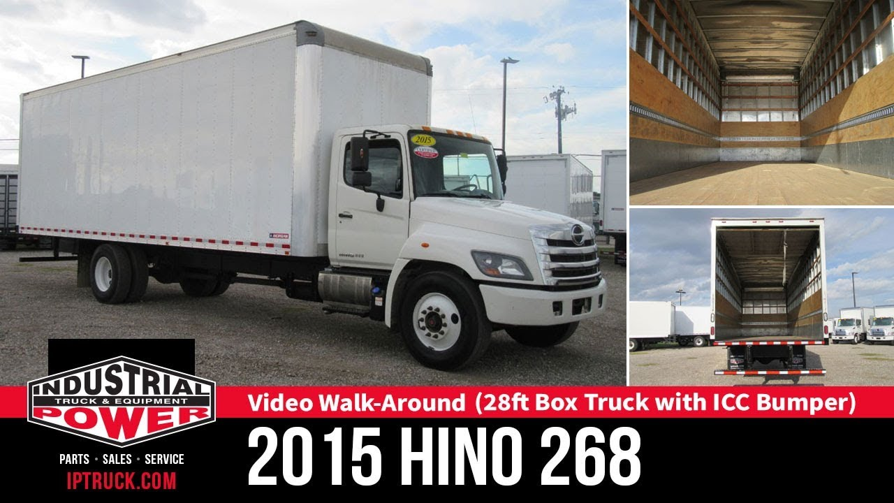 hight resolution of 2015 hino 268 28ft box truck with lift gate non cdl truck walk around ip truck