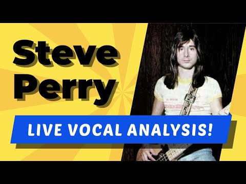 Steve Perry LIVE Vocal Analysis!  (Don't Stop Believin')