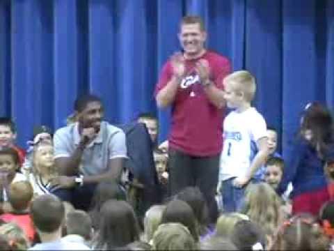 2013 - Kyrie Irving tells a room full of kids