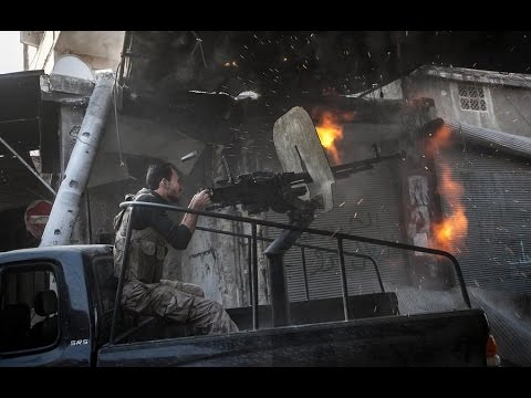 Free syrian army in heavy clashes during the battle of aleppo youtube