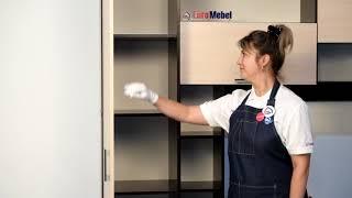 ВидеоОбзор EuroMebel: Шкаф пенал 1Д как часть комплекта мебели Гостиная 3 (Россия)