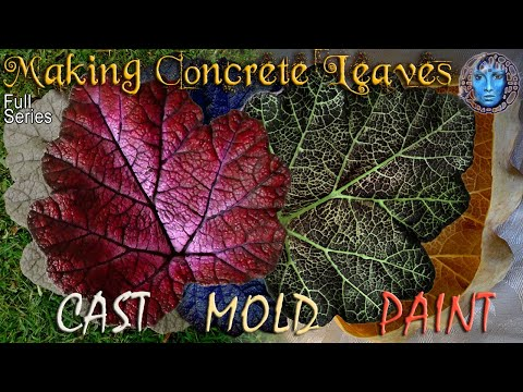 Make Concrete Leaves | Casting | Molding | Painting | Full Series