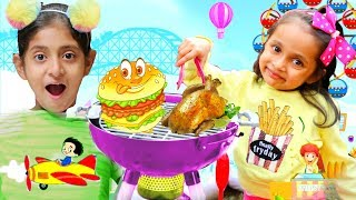 Kids Pretend Play BBQ Grill in CARNIVAL/MELA - Moral Stories | #ChildrenDay #MyMissAnand #Toystars