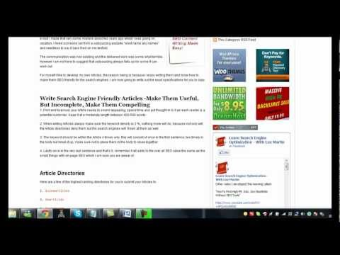 How To Write An Effective SEO Friendly Article [HD]